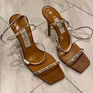 Woman off white sandals
